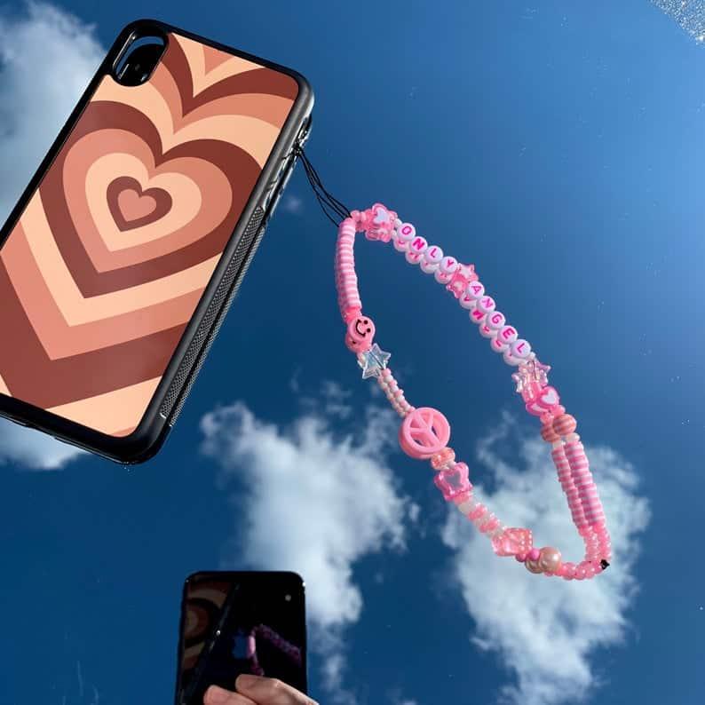 phone charm, phone charm DIY, phone charm aesthetic, phone charms beads, phone charm strap, phone charm ideas, 90s phone charm, YTK phone charm, phone chain, pink phone charm