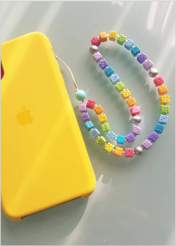 phone charm, phone charm DIY, phone charm aesthetic, phone charms beads, phone charm strap, phone charm ideas, 90s phone charm, YTK phone charm, phone chain, rainbow phone charm, dice phone charm