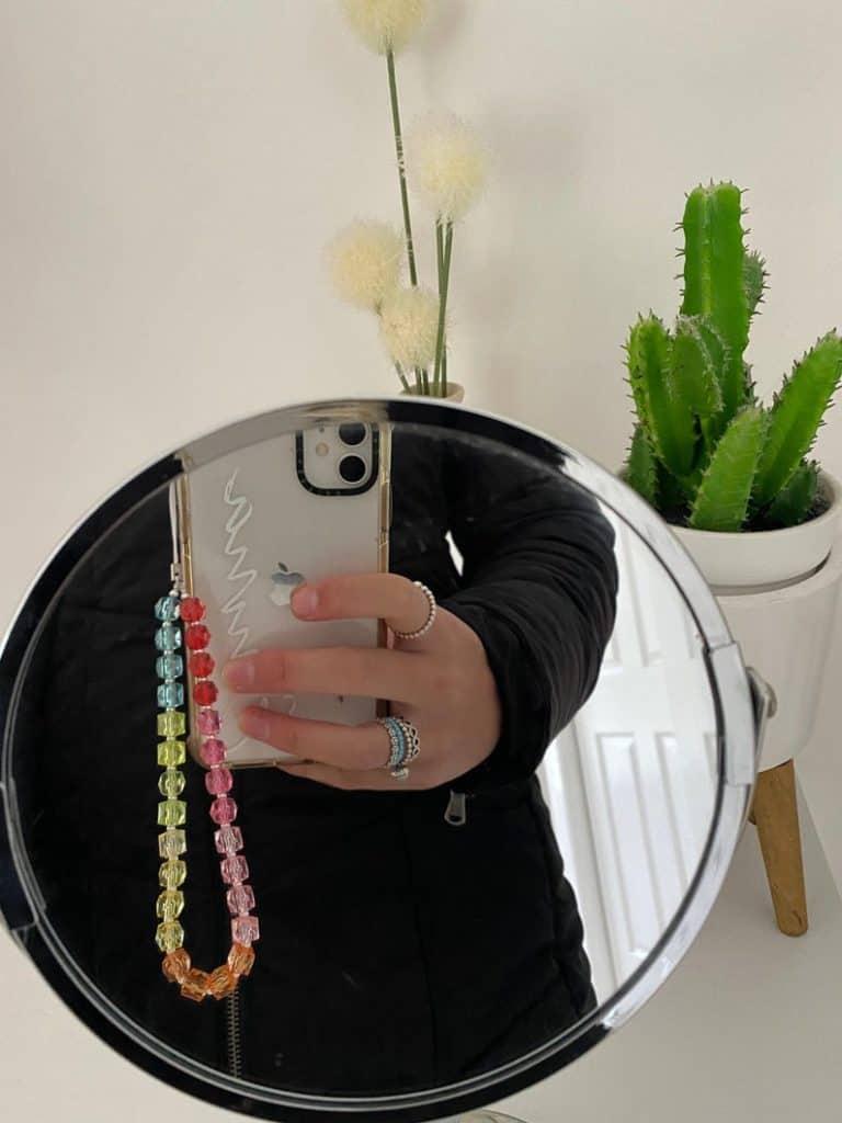 phone charm, phone charm DIY, phone charm aesthetic, phone charms beads, phone charm strap, phone charm ideas, 90s phone charm, YTK phone charm, phone chain, rainbow phone charm