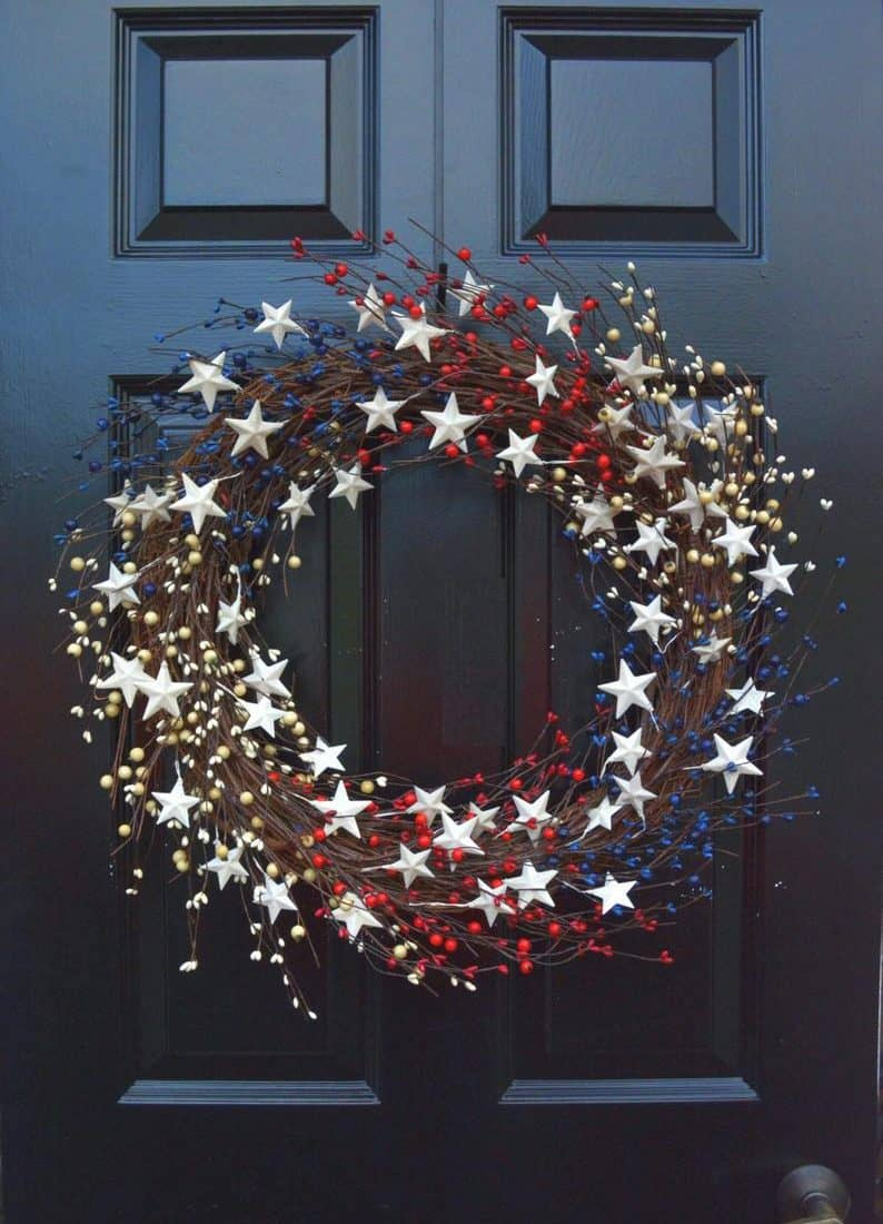 30+ Cutest 4th Of July Wreaths For Your Front Door!