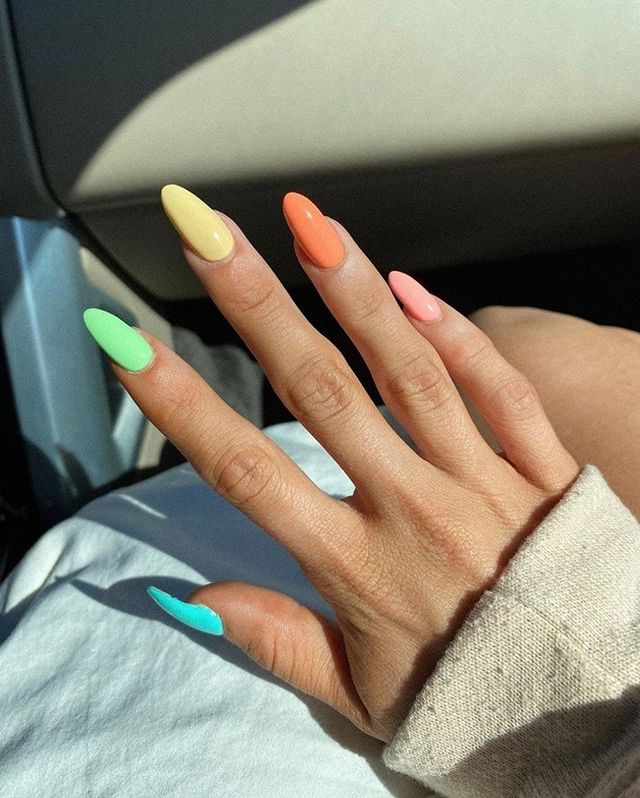 cute nails, cue nails acrylic, cute nails for summer, cute nail designs, cute nail ideas, cute nail art, rainbow nails, rainbow nail ideas, rainbow nail designs