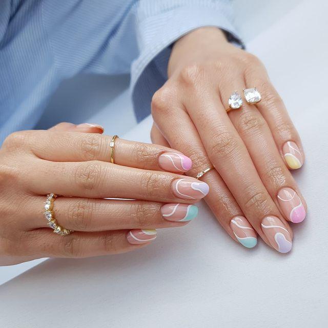 cute nails, cue nails acrylic, cute nails for summer, cute nail designs, cute nail ideas, cute nail art, pastel nails, abstract nails