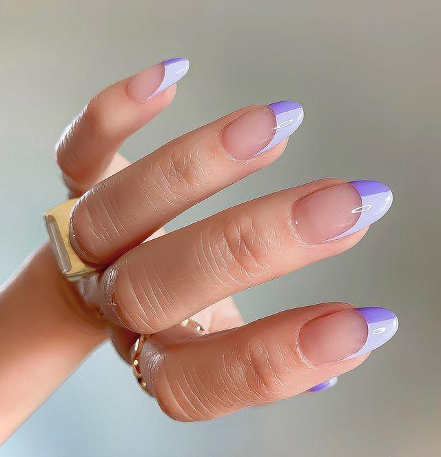 cute nails, cue nails acrylic, cute nails for summer, cute nail designs, cute nail ideas, cute nail art, French tip nails, French tip nail ideas, French tip nail art, purple nails, purple nail art, purple nail ideas