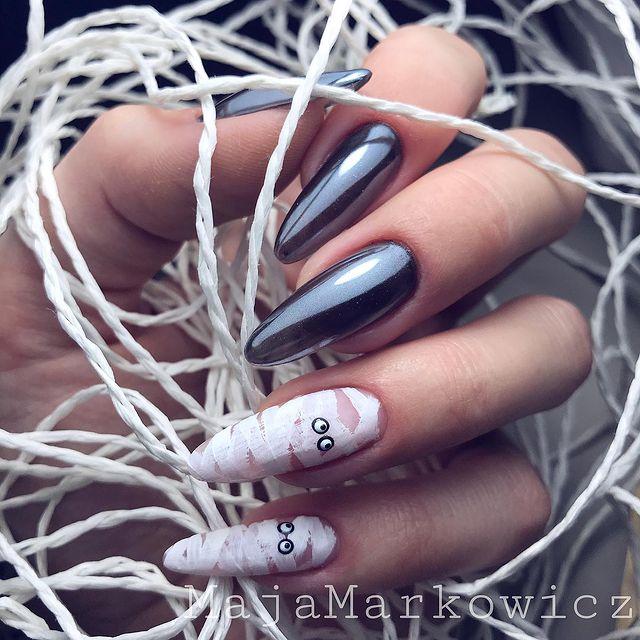 halloween nails, halloween nails acrylic, halloween nails ideas, halloween nails short, halloween nails simple, halloween nails easy, halloween nails 2021, halloween nails acrylic coffin, mummy nails