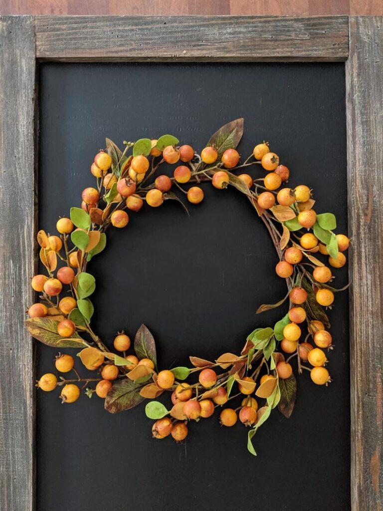 fall wreath, fall wreaths, fall wreaths for front door, fall wreath ideas DIY, fall wreath ideas, autumn wreaths, autumn wreath diy, autumn wreath or front door, fruit wreath