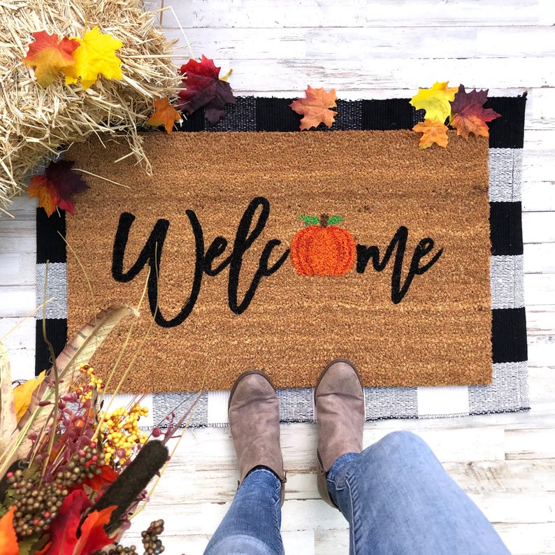 fall doormats, fall doormat ideas, fall doormat diy, autumn doormat, autumn doormat ideas, fall decor, fall decor ideas for the home, fall decor ideas, fall decorations, fall decor inspiration