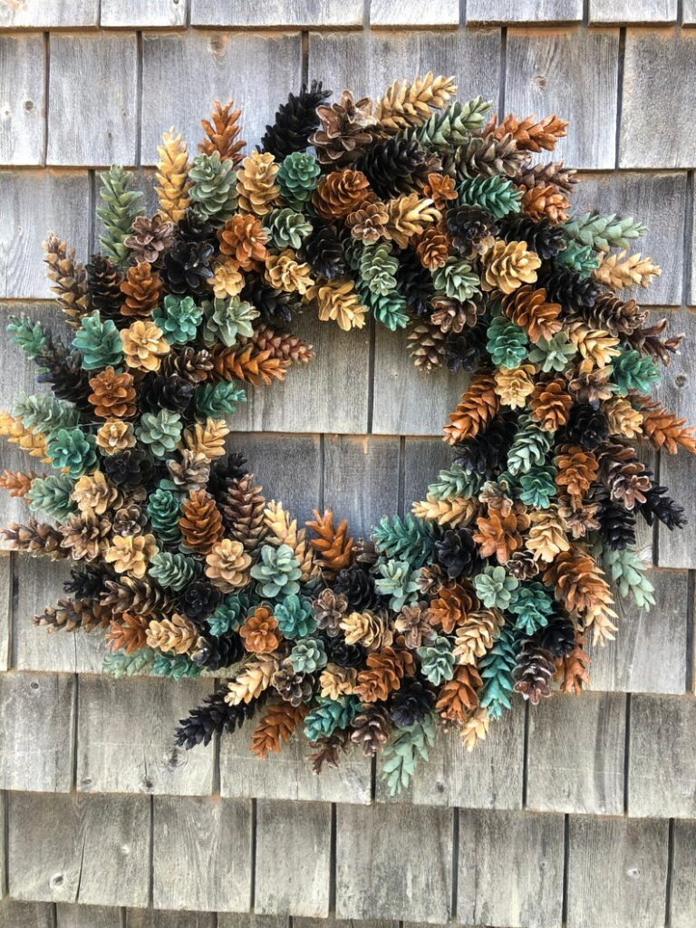 fall wreath, fall wreaths, fall wreaths for front door, fall wreath ideas DIY, fall wreath ideas, autumn wreaths, autumn wreath diy, autumn wreath or front door, pinecone wreath, fall pinecone wreath