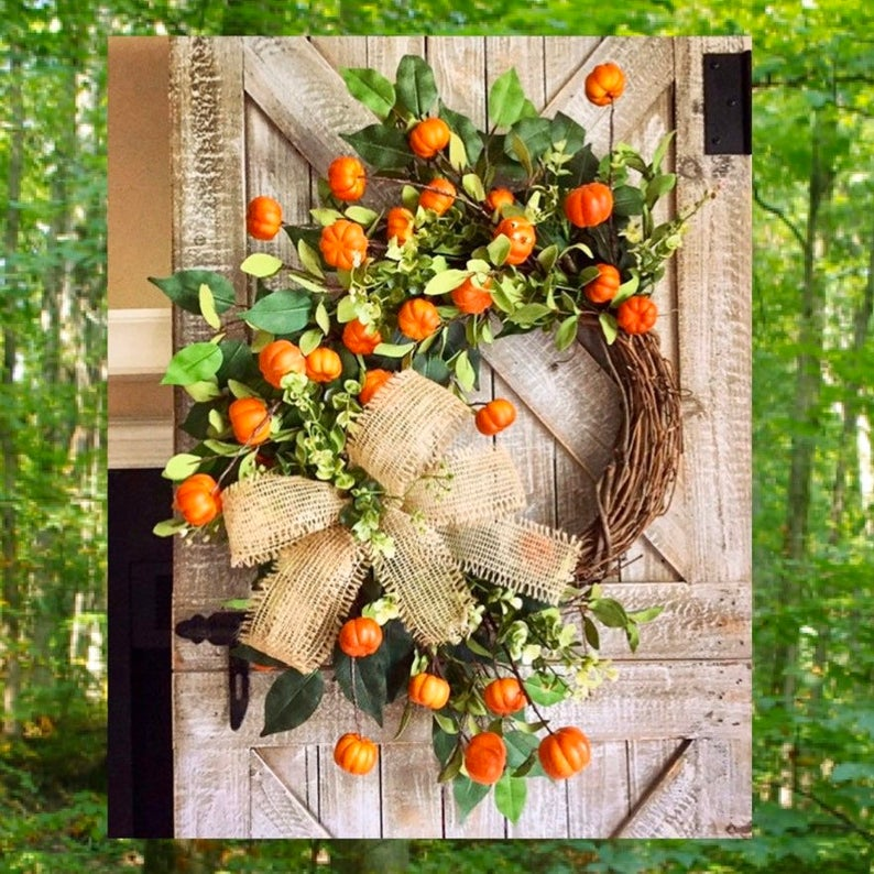 fall wreath, fall wreaths, fall wreaths for front door, fall wreath ideas DIY, fall wreath ideas, autumn wreaths, autumn wreath diy, autumn wreath or front door, pumpkin wreath, fall grapevine wreath
