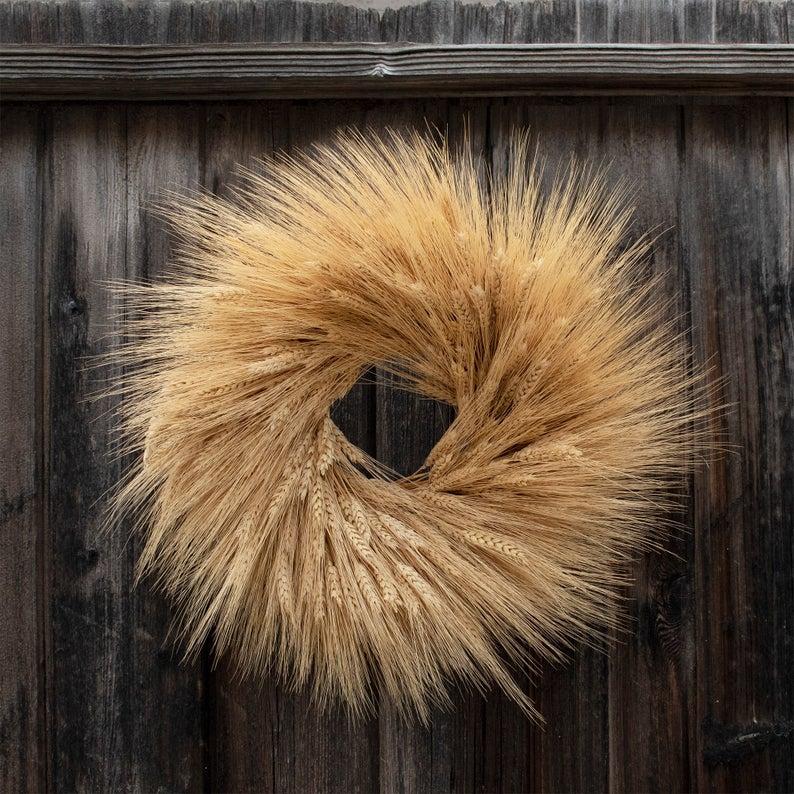 fall wreath, fall wreaths, fall wreaths for front door, fall wreath ideas DIY, fall wreath ideas, autumn wreaths, autumn wreath diy, autumn wreath or front door, dried wheat wreath