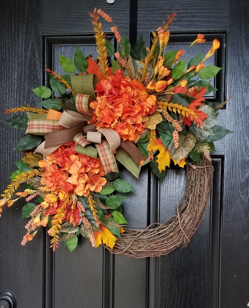 fall wreath, fall wreaths, fall wreaths for front door, fall wreath ideas DIY, fall wreath ideas, autumn wreaths, autumn wreath diy, autumn wreath or front door, fall grapevine wreath