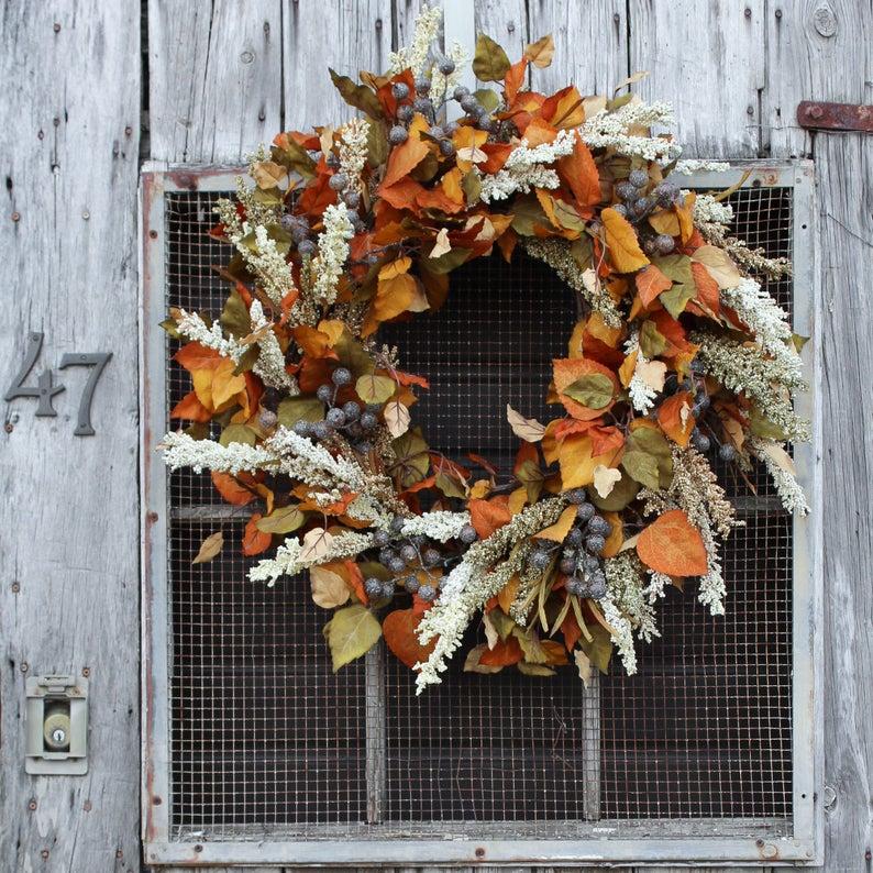 fall wreath, fall wreaths, fall wreaths for front door, fall wreath ideas DIY, fall wreath ideas, autumn wreaths, autumn wreath diy, autumn wreath or front door, rustic fall wreath