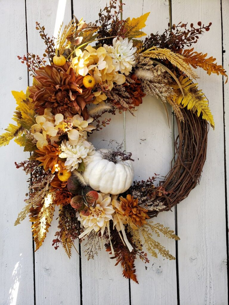 fall wreath, fall wreaths, fall wreaths for front door, fall wreath ideas DIY, fall wreath ideas, autumn wreaths, autumn wreath diy, autumn wreath or front door, rustic fall wreath, fall rustic wreath, fall grapevine wreath