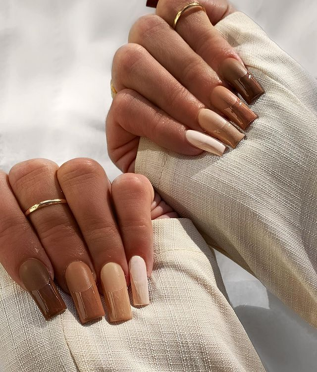 fall nails, fall nail designs, fall nails 2021, fall nail colors, fall nails acrylic, fall nails simple, fall nail art, fall nail ideas, simple fall nails, cute fall nails, neutral nails, neutral nail ideas