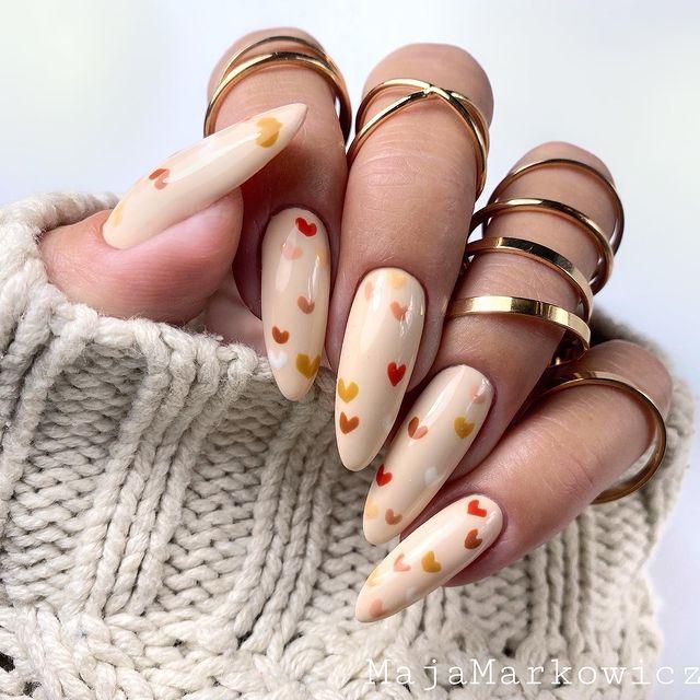 fall nails, fall nail designs, fall nails 2021, fall nail colors, fall nails acrylic, fall nails simple, fall nail art, fall nail ideas, simple fall nails, cute fall nails, heart nails, heart nail ideas, heart nail designs