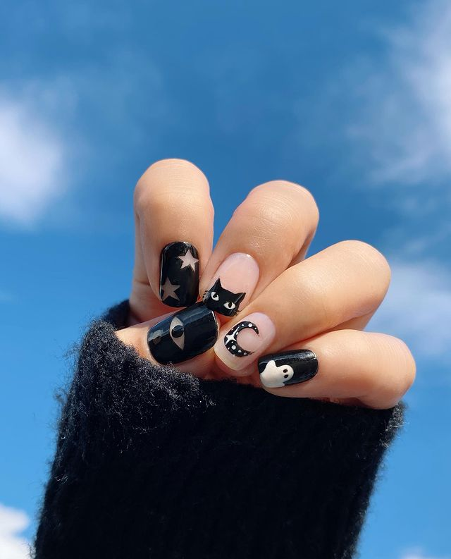 halloween nails, halloween nails acrylic, halloween nails ideas, halloween nails short, halloween nails simple, halloween nails easy, halloween nails 2021, halloween nails acrylic coffin, black nails