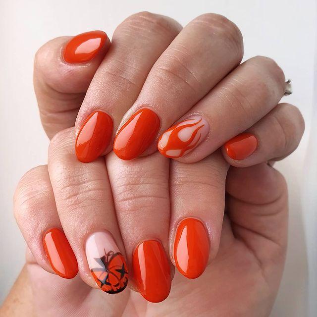 halloween nails, halloween nails acrylic, halloween nails ideas, halloween nails short, halloween nails simple, halloween nails easy, halloween nails 2021, halloween nails acrylic coffin, orange nails, orange nail art, pumpkin nails