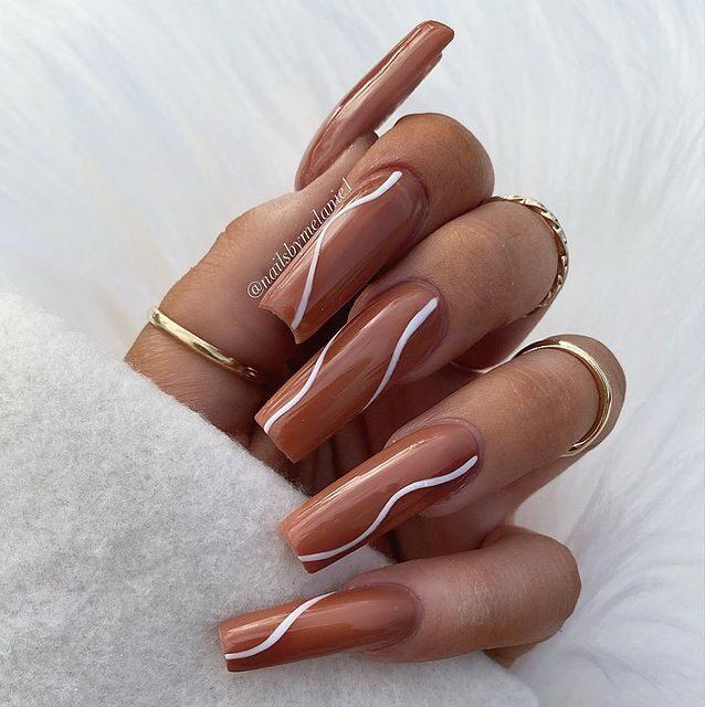 fall nails, fall nail designs, fall nails 2021, fall nail colors, fall nails acrylic, fall nails simple, fall nail art, fall nail ideas, simple fall nails, cute fall nails, neutral nails, neutral nail ideas, swirl nails, swirl nail ideas