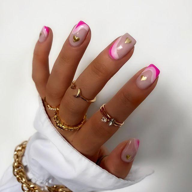 cute nails, cue nails acrylic, cute nails for summer, cute nail designs, cute nail ideas, cute nail art, pink nails, pink nail ideas, pink nail designs, heart nails, heart nail ideas