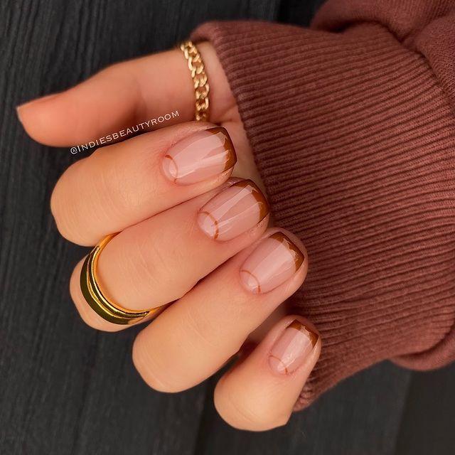 fall nails, fall nail designs, fall nails 2021, fall nail colors, fall nails acrylic, fall nails simple, fall nail art, fall nail ideas, simple fall nails, cute fall nails, French tip nails, French tip nail ideas
