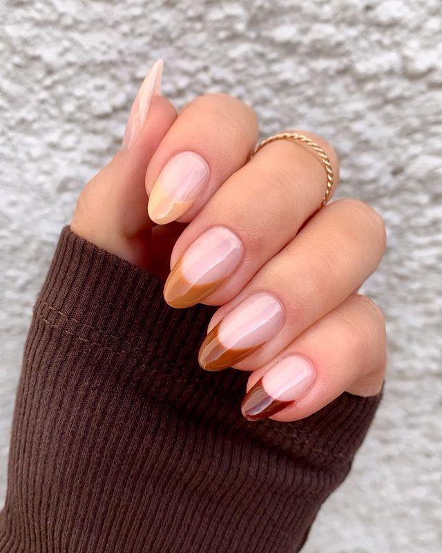fall nails, fall nail designs, fall nails 2021, fall nail colors, fall nails acrylic, fall nails simple, fall nail art, fall nail ideas, simple fall nails, cute fall nails, French tip nails, ombre nails, ombre nail art, gradient nails