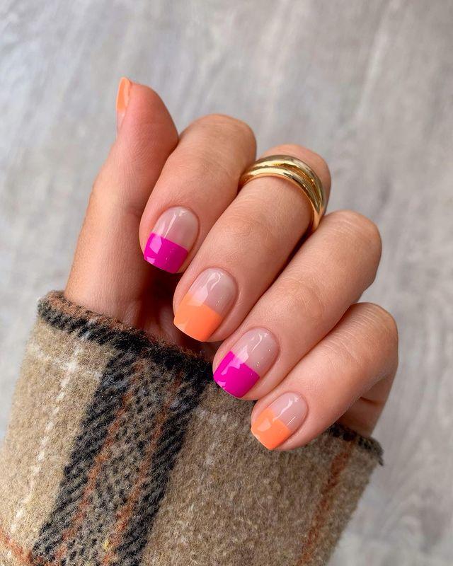 cute nails, cue nails acrylic, cute nails for summer, cute nail designs, cute nail ideas, cute nail art, pink nails, orange nails