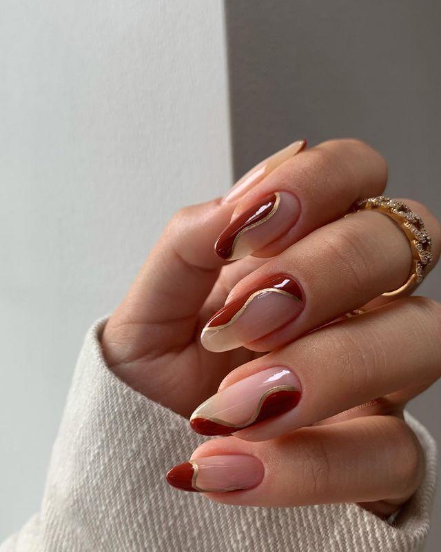 fall nails, fall nail designs, fall nails 2021, fall nail colors, fall nails acrylic, fall nails simple, fall nail art, fall nail ideas, simple fall nails, cute fall nails, fall swirl nails, swirl nail ideas, swirl nails