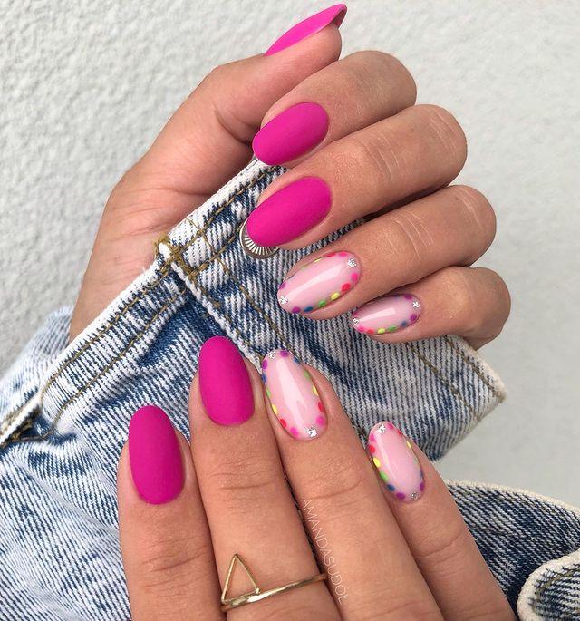 cute nails, cue nails acrylic, cute nails for summer, cute nail designs, cute nail ideas, cute nail art, pink nails, pink nail ideas, pink nail art, polka dot nails