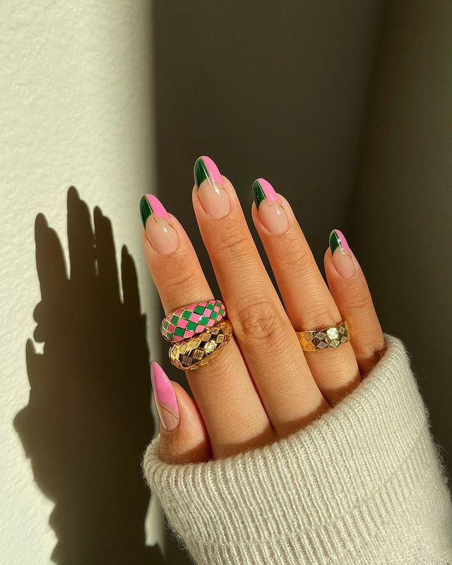 fall nails, fall nail designs, fall nails 2021, fall nail colors, fall nails acrylic, fall nails simple, fall nail art, fall nail ideas, simple fall nails, cute fall nails, green nails, pink nails