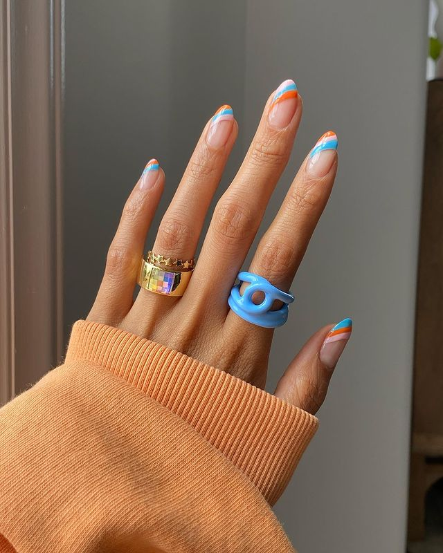cute nails, cue nails acrylic, cute nails for summer, cute nail designs, cute nail ideas, cute nail art, striped nails