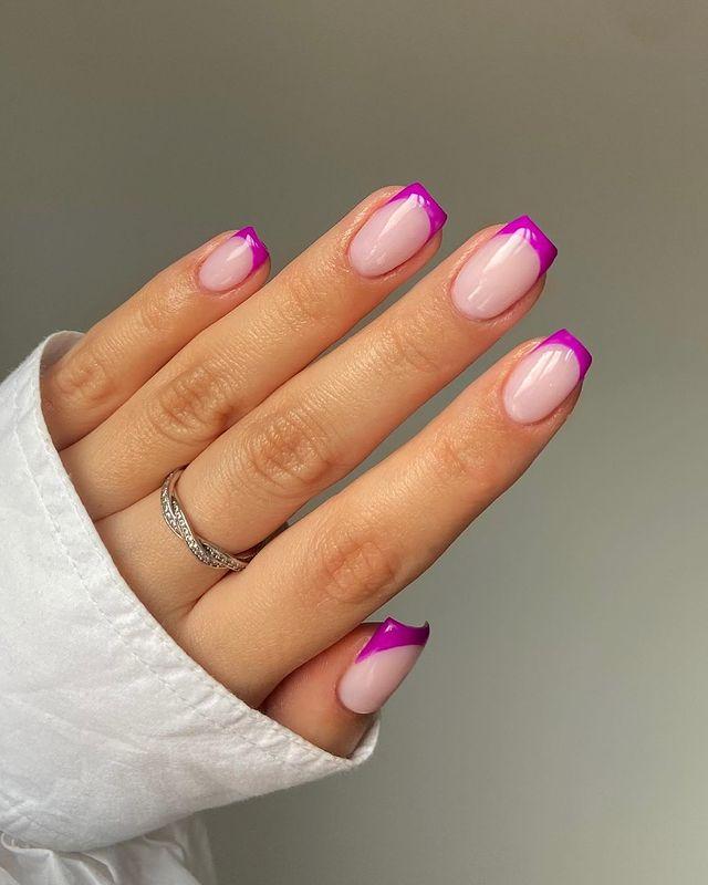 cute nails, cue nails acrylic, cute nails for summer, cute nail designs, cute nail ideas, cute nail art, pink French tip nails, pink nails, French tip nails, French tip nail art