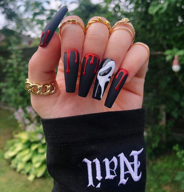 halloween nails, halloween nails acrylic, halloween nails ideas, halloween nails short, halloween nails simple, halloween nails easy, halloween nails 2021, halloween nails acrylic coffin, scream nails