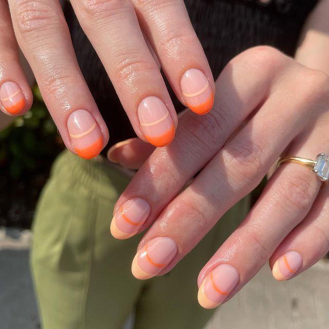 cute nails, cue nails acrylic, cute nails for summer, cute nail designs, cute nail ideas, cute nail art, orange nails, orange nail ideas, orange nail designs