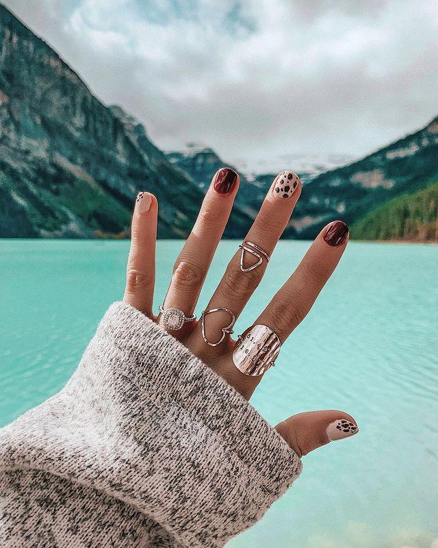 fall nails, fall nail designs, fall nails 2021, fall nail colors, fall nails acrylic, fall nails simple, fall nail art, fall nail ideas, simple fall nails, cute fall nails, leopard nail art, leopard nail ideas
