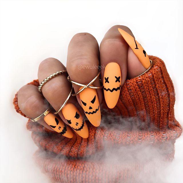 halloween nails, halloween nails acrylic, halloween nails ideas, halloween nails short, halloween nails simple, halloween nails easy, halloween nails 2021, halloween nails acrylic coffin, orange nail art, orange nails