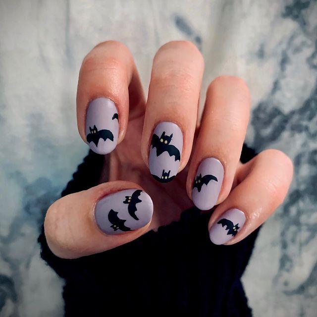 halloween nails, halloween nails acrylic, halloween nails ideas, halloween nails short, halloween nails simple, halloween nails easy, halloween nails 2021, halloween nails acrylic coffin, bat nails, bat nail art