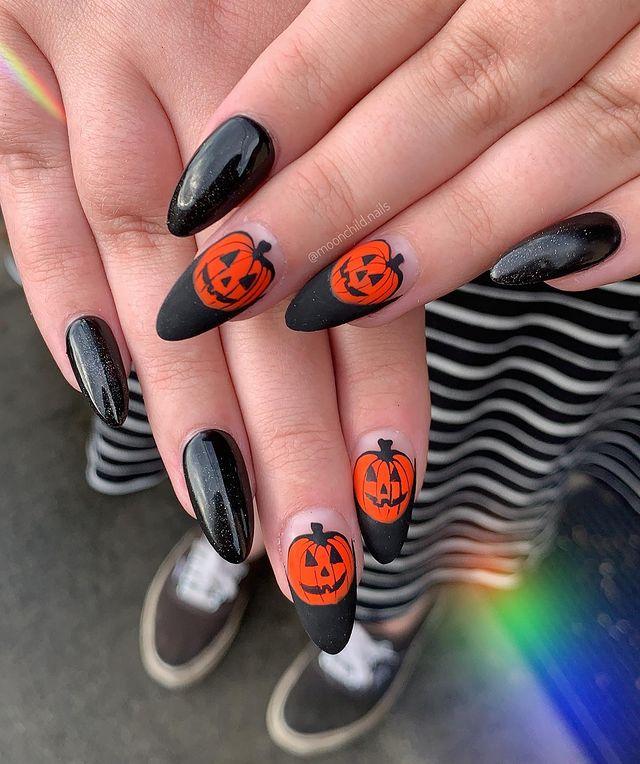 halloween nails, halloween nails acrylic, halloween nails ideas, halloween nails short, halloween nails simple, halloween nails easy, halloween nails 2021, halloween nails acrylic coffin, black nails, pumpkin nails