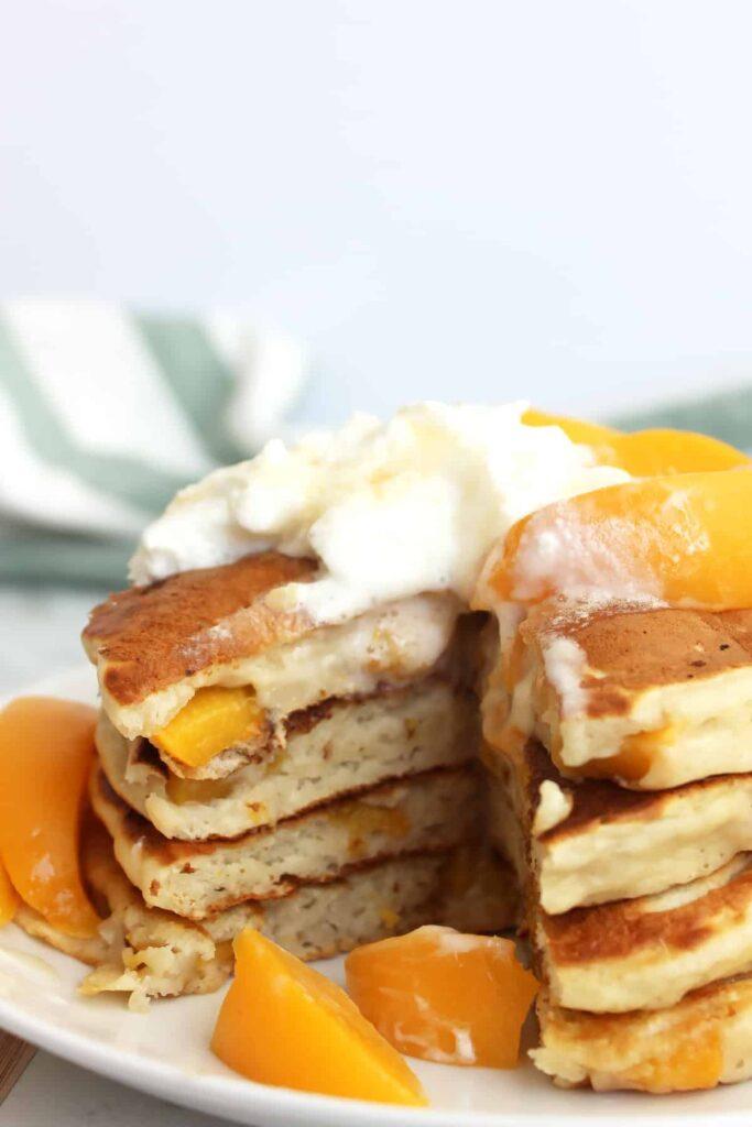 peach recipe, peach recipes, peach recipes healthy, peach recipe easy, peach pancakes recipe, peach pancake, peach recipes breakfast, peach breakfast recipes