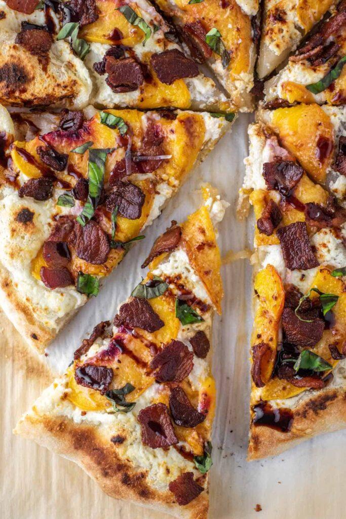 peach recipe, peach recipes, peach recipes healthy, peach recipe easy, peach pizza, pizza recipe, homemade pizza, peach dinner recipe