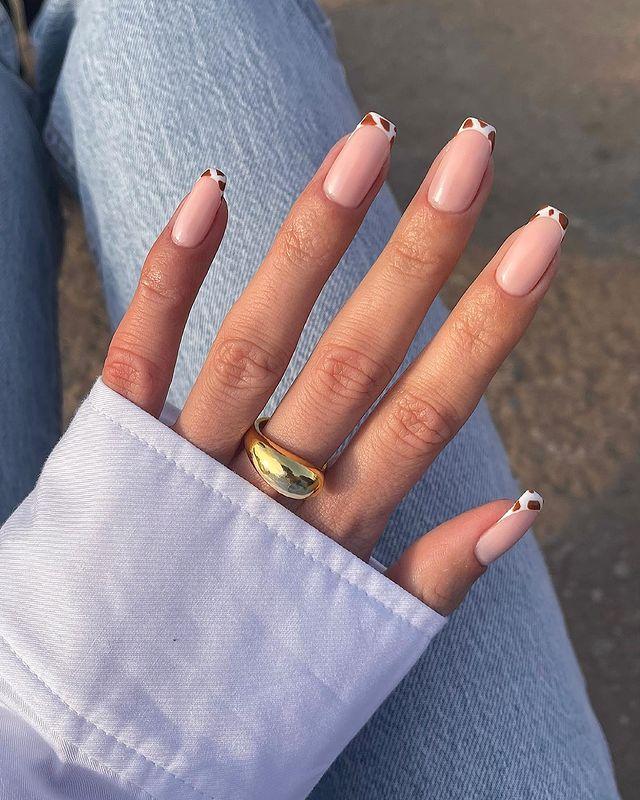 brown nails, brown nails acrylic, brown nails design, brown nails ideas, brown nails aesthetic, brown nails short, brown nails acrylic almond, brown nails acrylic coffin, easy brown nails, simple brown nails, trendy brown nails, cow print nails, cow print nail ideas