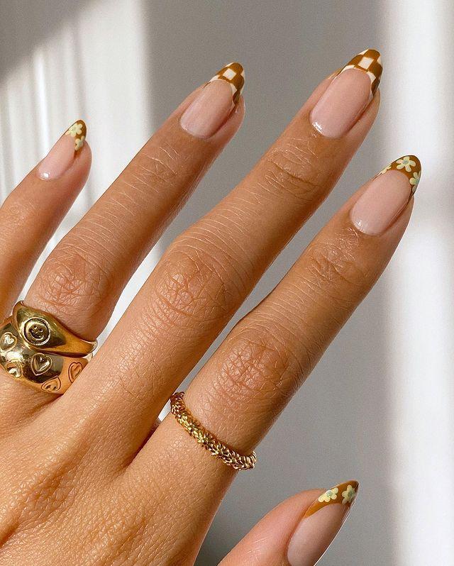 brown nails, brown nails acrylic, brown nails design, brown nails ideas, brown nails aesthetic, brown nails short, brown nails acrylic almond, brown nails acrylic coffin, easy brown nails, simple brown nails, trendy brown nails, checkered nails, indie nails