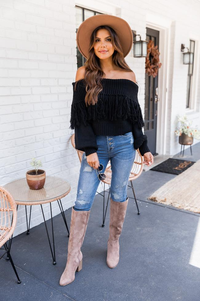 fall outfit idea, fall outfit ideas, fall outfits, fall outfits 2021, fall outfits women, fall outfits aesthetic, fall outfit inspiration, fall outfits for school, cute fall outfits, fringe outfit, fall sweater outfit