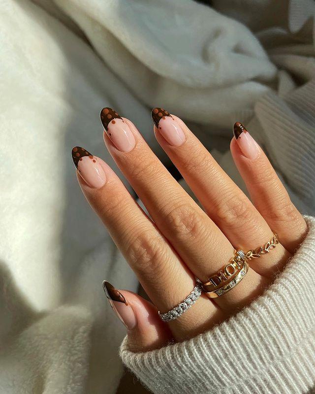 brown nails, brown nails acrylic, brown nails design, brown nails ideas, brown nails aesthetic, brown nails short, brown nails acrylic almond, brown nails acrylic coffin, easy brown nails, simple brown nails, trendy brown nails, French tip nails