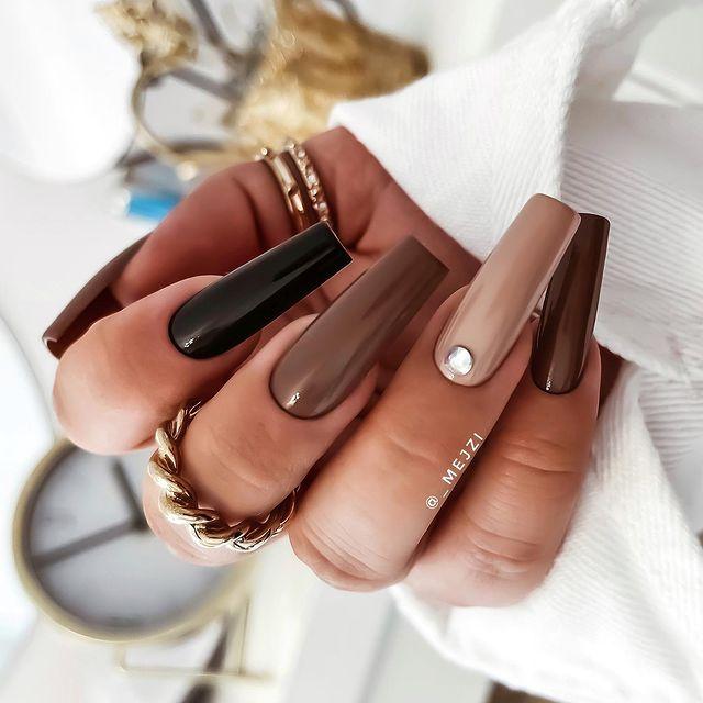 brown nails, brown nails acrylic, brown nails design, brown nails ideas, brown nails aesthetic, brown nails short, brown nails acrylic almond, brown nails acrylic coffin, easy brown nails, simple brown nails, trendy brown nails