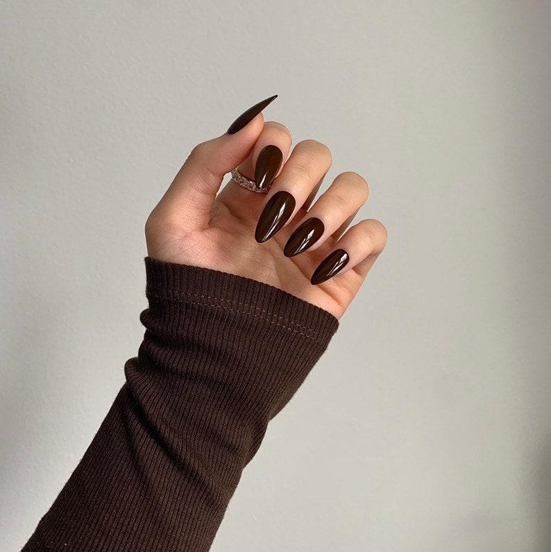 brown nails, brown nails acrylic, brown nails design, brown nails ideas, brown nails aesthetic, brown nails short, brown nails acrylic almond, brown nails acrylic coffin, easy brown nails, simple brown nails, trendy brown nails, press on nails, brown press on nails, cute press on nails