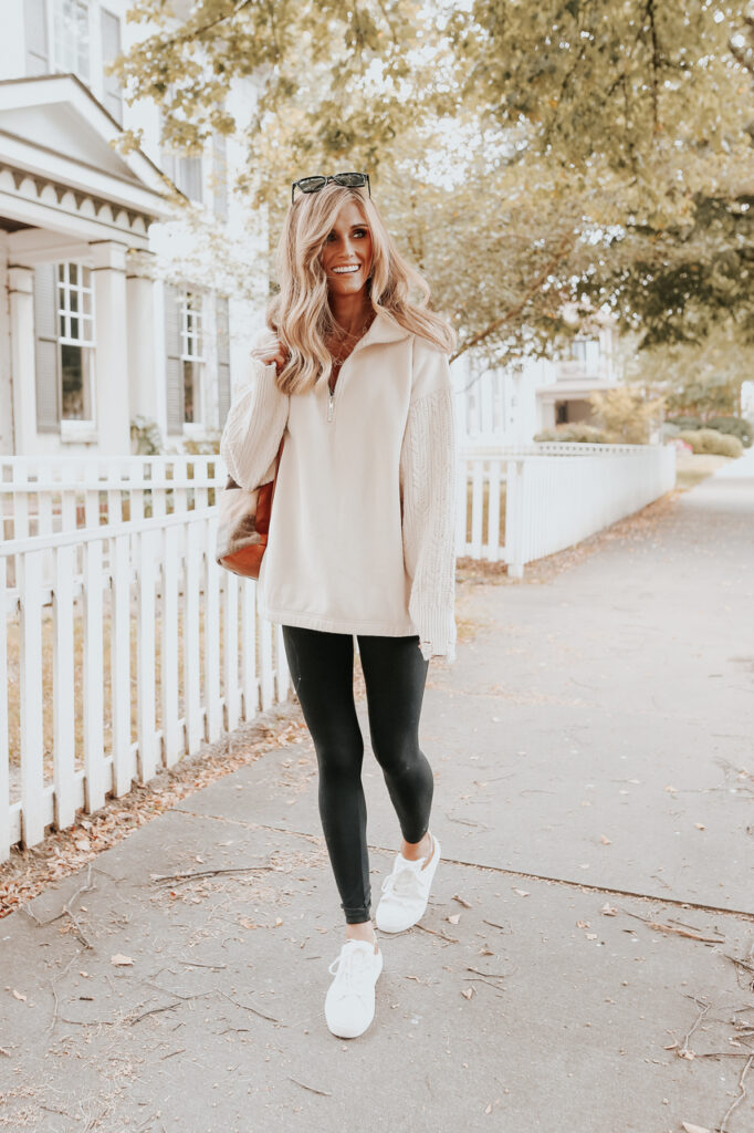 fall outfit idea, fall outfit ideas, fall outfits, fall outfits 2021, fall outfits women, fall outfits aesthetic, fall outfit inspiration, fall outfits for school, cute fall outfits, athleisure outfit, casual fall outfit, leggings outfit